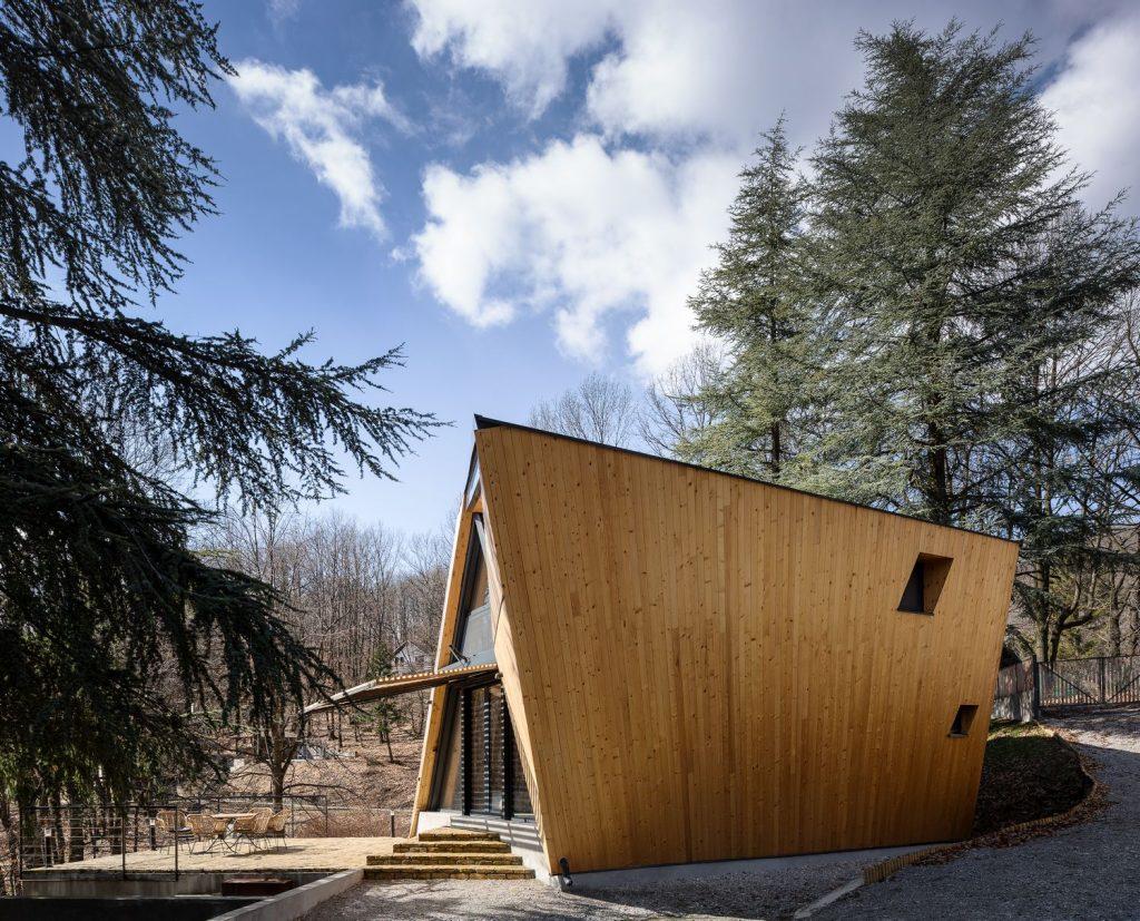 wooden house modern