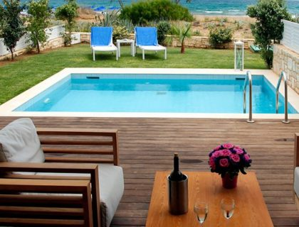wood decking villa